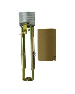 Adjustable Medium Base Socket With Screw Terminals And Locking Paper Shell Insulator - Leviton
