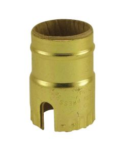 1-Slot Metal Shell (Standard Size) - Polished Gilt (Leviton)