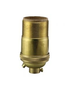 Heavy Wall Solid Brass UNO Keyless Socket with Ground Screw Terminal - Unfinished