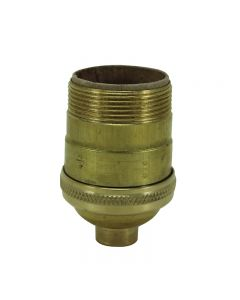Heavy Wall Solid Brass UNO Short Keyless Socket - Unfinished