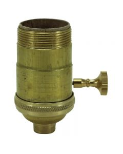 Heavy Wall Solid Brass UNO 3-Way MB Turn Knob Socket - Unfinished