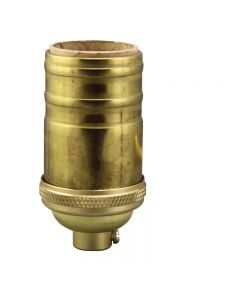 Heavy Wall Solid Brass Full Size Keyless Socket - Unfinished