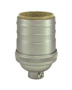 Heavy Wall Solid Brass Short Keyless Socket - Satin Nickel