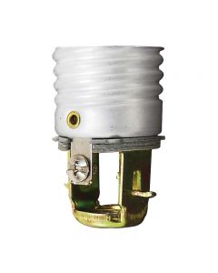 """Medium Base Socket With Screw Terminals (Without Leads) - 2"""" Overall"""