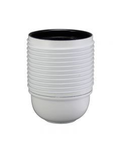 E26 3-Piece Full Thread Phenolic Socket - White