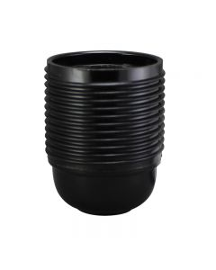 E26 3-Piece Full Thread Phenolic Socket - Black