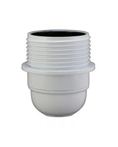 E26 3-Piece Half Thread Phenolic Socket - White