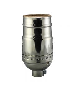 Solid Brass Medium Base Keyless Sockets - Galvanized