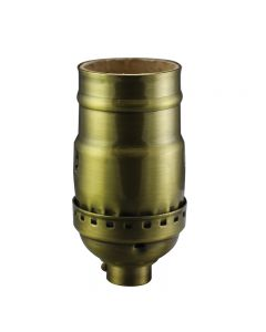 Solid Brass Medium Base Keyless Sockets - Antique Brass