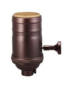 Heavy Wall Solid Brass 3-Way MB Turn Knob Sockets - Bronze
