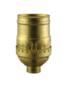 Solid Brass Medium Base Keyless Sockets - Unfinished