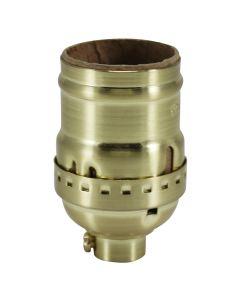 Solid Brass Medium Base Keyless Sockets - Satin Brass
