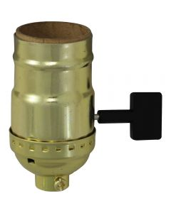 Big Key Solid Brass Socket - Polished & Lacquered