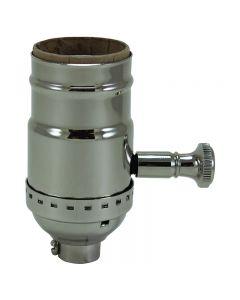 Solid Brass Turn Knob Dimmer Socket - Polished Nickel