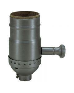Solid Brass Turn Knob Dimmer Socket - Satin Nickel