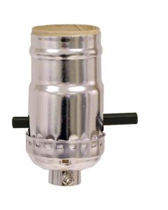 MB Push-Thru Socket - Nickel (Leviton)