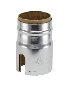 2-Slot Metal Shell - Nickel (Leviton)