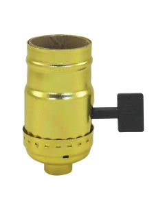 MB On/Off Turn-Knob Over-Sized Key Socket - Polished Gilt (Leviton)