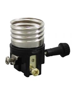 3-Way Turn Knob Electrolier (With Nickel Plated Copper Alloy Screw Shell)