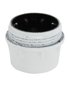 VLM E14 Cap Only, for 3-Piece Bakelite Socket - White