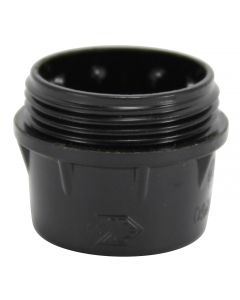 VLM E14 Cap Only, for 3-Piece Bakelite Socket - Black