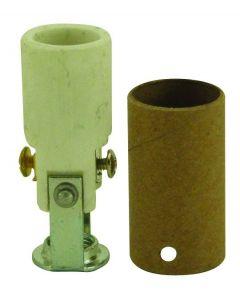 """High Heat Porcelain Candelabra Base Socket - 1-9/16"""""""