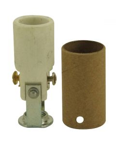 High Heat Porcelain Candelabra Base Socket - 2""
