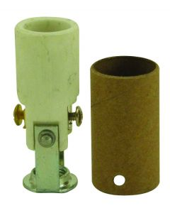 """High Heat Porcelain Candelabra Base Socket - 2"""""""