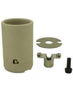 3-Way Mogul Base Socket Set - Unglazed Porcelain