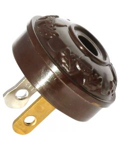 Acorn Early Electric Style Plug - Brown