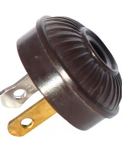 Mid-Century Style Embossed Plug - Brown