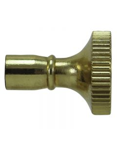 Brass Key Knob for Turn Sockets - Polished & Lacquered