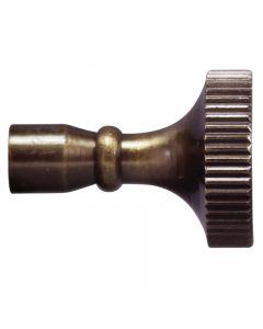 Brass Key Knob for Turn Sockets - Antique Brass