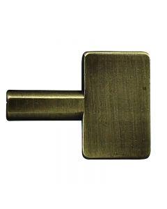 Oversized Brass Key Knob for Turn Sockets - Antique Brass