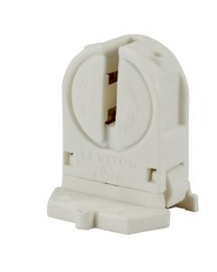 Leviton Snap-In or Slide-On T5 Miniature Bi-Pin (G5 Base) Short, Not Shunted, with Locator Pin