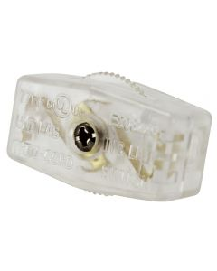 SPT-1 On/Off Feed-Thru Cord Switch - Clear