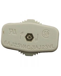SPT-1 On/Off Feed-Thru Cord Switch - White