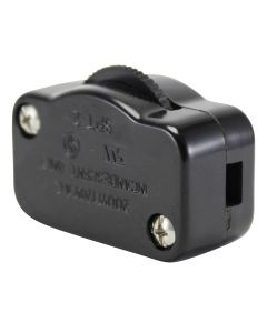 Hi-Lo Feed-Thru Lamp Cord Dimmer - Black, For SPT-2 18/2 wire