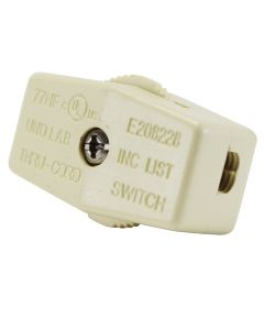 SPT-2 On/Off Feed-thru Cord Switch - Ivory