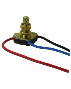 3-Way Rotary Switch - Brass Fixed Knob