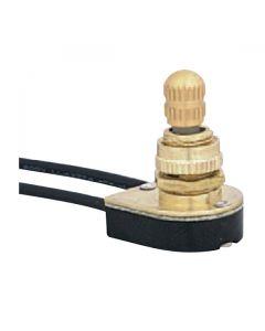 On/Off Turn Knob Canopy Switch - Fixed Brass Knob