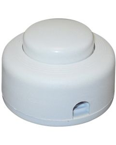 On/Off Push Button Floor Switch - White