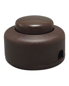 On/Off Push Button Floor Switch - Brown