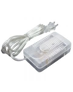 Slide Dimmer with Female Receptacle-6ft Cord Set - Clear