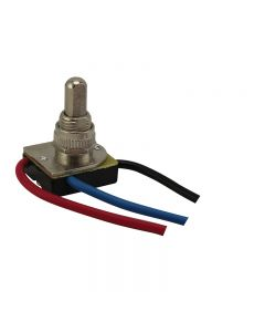 3-Way Push-Button 2-Circuit – 4-Position Switch - Polished Nickel