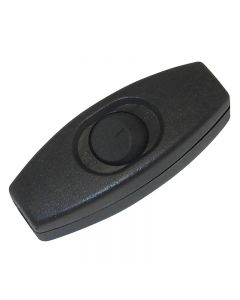 Feed-thru Cord Rocker Switch - Black, For SPT-1 18/2 wire