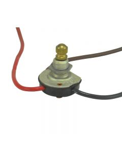 Circle -F Premium 3-Way Rotary Switch - Brass Fixed Knob