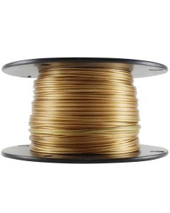"22/2 Plastic Parallel ""French Wire"" - Clear Gold"