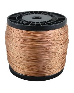 Bare Copper Braided Grounding Wire 2500 Foot Spool - Copper