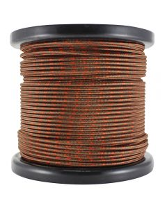 Single Conductor Rayon Covered Wire - Brown w/Red Tracer